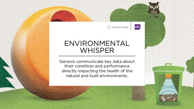 Sensors communicate key data about their condition and performance directly impacting the health of the natural and built ...