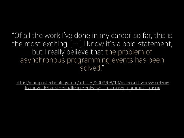 """""""Of all the work I've done in my career so far, this is the most exciting. […] I know it's a bold statement, but I really ..."""