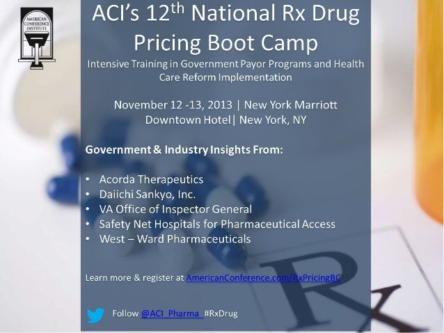 Rx Drug Pricing Boot Camp