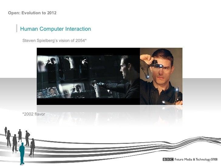 Steven Spielberg's vision of 2054* Human Computer Interaction *2002 flavor