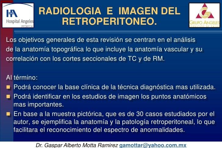 Radiologia e Imagen retroperitoneal