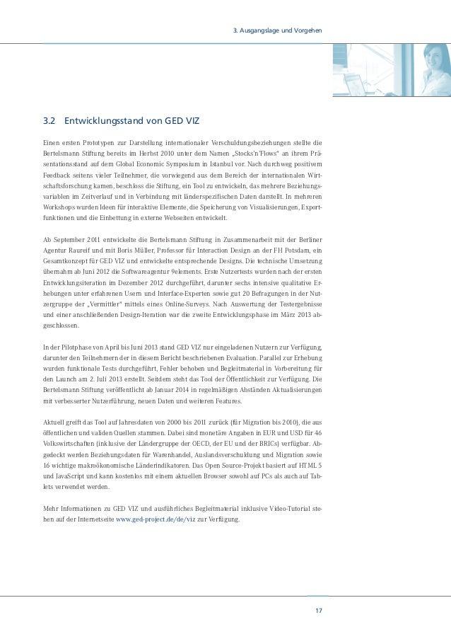 19 3. Ausgangslage und Vorgehen misst ferner den Aufwand, den der Nutzer in seiner Wahrnehmung hatte, damit er GED VIZ nut...