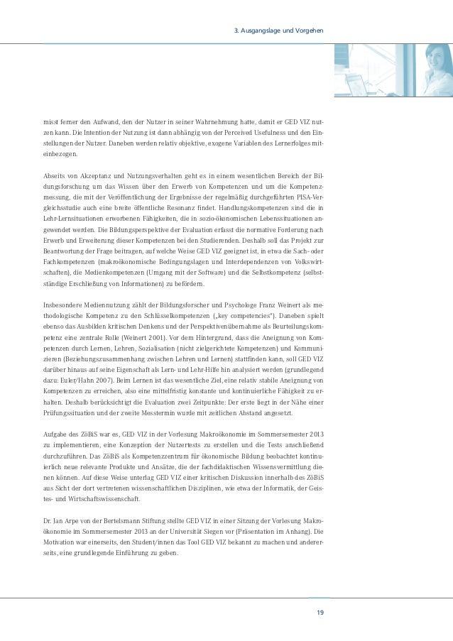 21 4. Theoretische Annahmen schnell und intuitiv die Bedienung von GED VIZ zu erlernen und allgemein anzuwenden ist (Ease ...