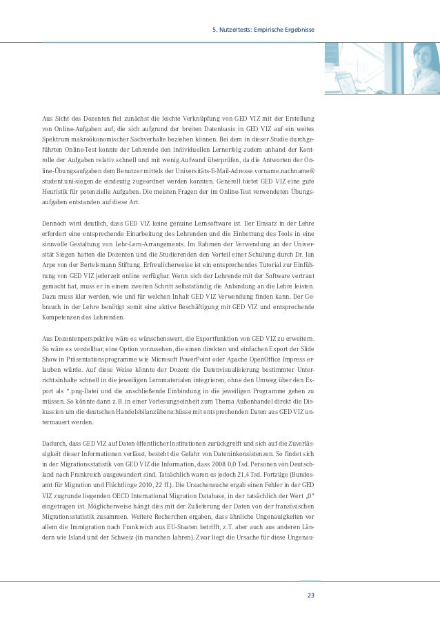 25 5. Nutzertests: Empirische Ergebnisse Die Ausrichtung des wirtschaftlichen Lehrplans ist deutlich im BWL-Bereich konzen...