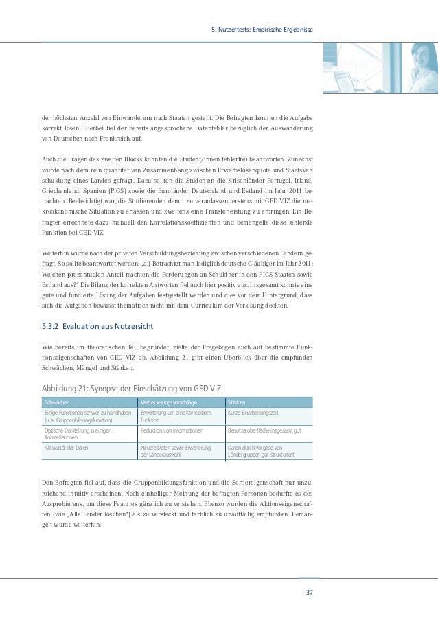 39 6. Diskussion und Ausblick 6. Diskussion und Ausblick Für das Tool GED VIZ ist der Lehrbetrieb an Hochschulen und Schul...