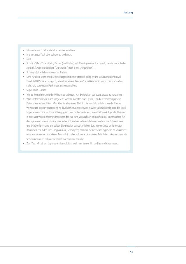 53 Anhang 10. Ihrer Meinung nach, wovon war die Schnelligkeit der Beantwortung der Fragen mit dem GED VIZ abhängig? Code V...