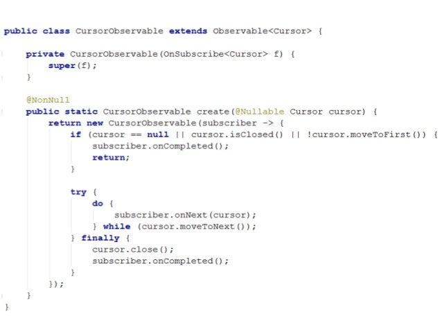 Rx java architecture for Java 7 architecture