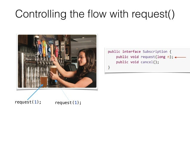 Controlling the flow with request() request(1); request(1);