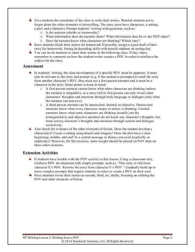free writing a paragraph lesson plan