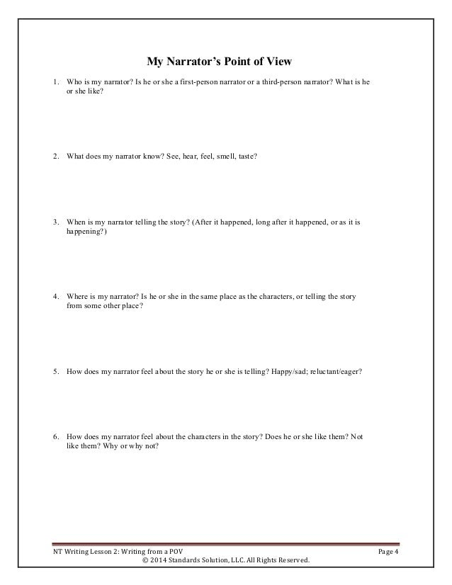 PARCC lesson plan writing grade 4