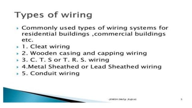 hospital wiring system rh slideshare net types of domestic wiring methods types of writing methods