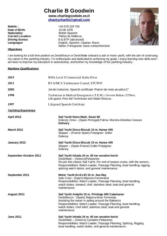 deckhand resume resume ideas