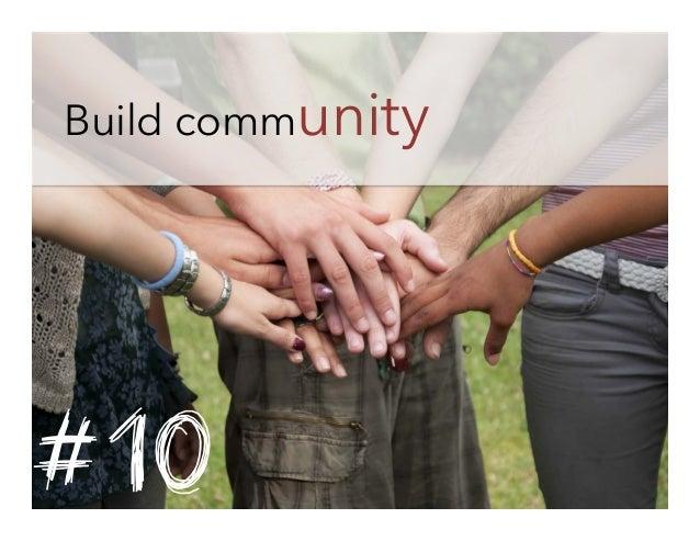 Build community  #10