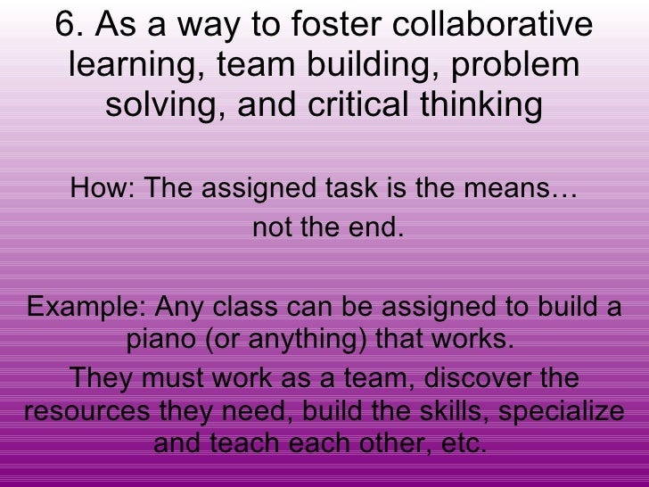Collaborative Problem Solving Responsive Classroom : Ways to use second life in education michele ryan