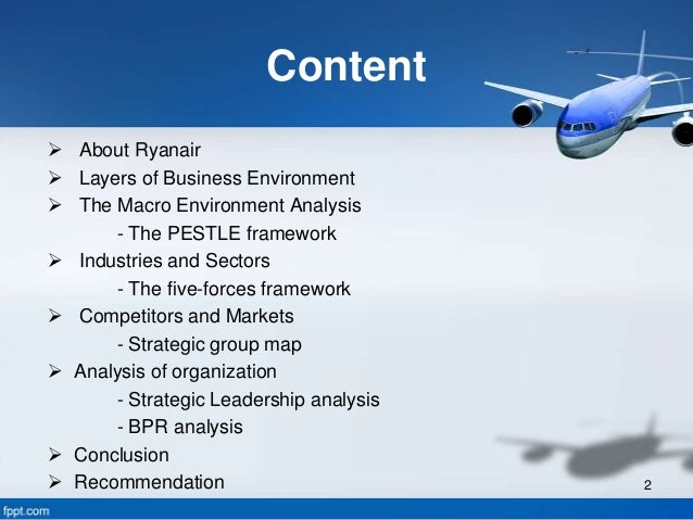 strategic group ryanair This report discusses low-cost airline ryanair and the primary external factors that have strategic management of 'ivoryresearch helped my group to create a.