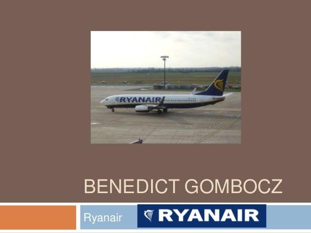 BENEDICT GOMBOCZ Ryanair