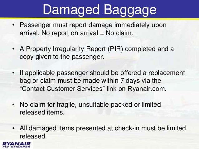 Modul 6 baggage damaged baggage spiritdancerdesigns Images