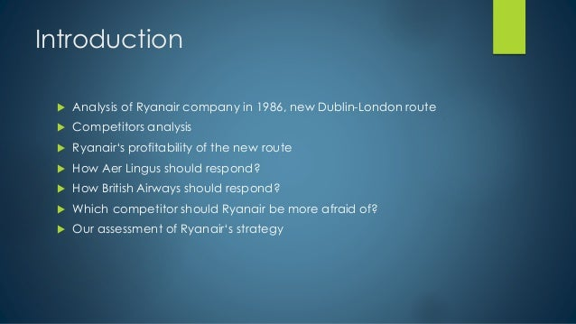 Introduction of ryanair