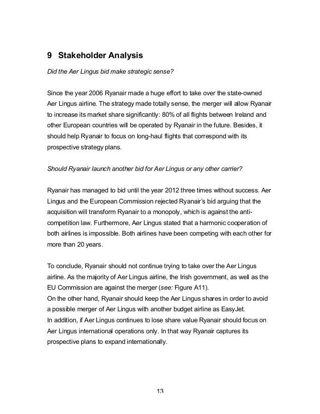 tows analysis of ryanair