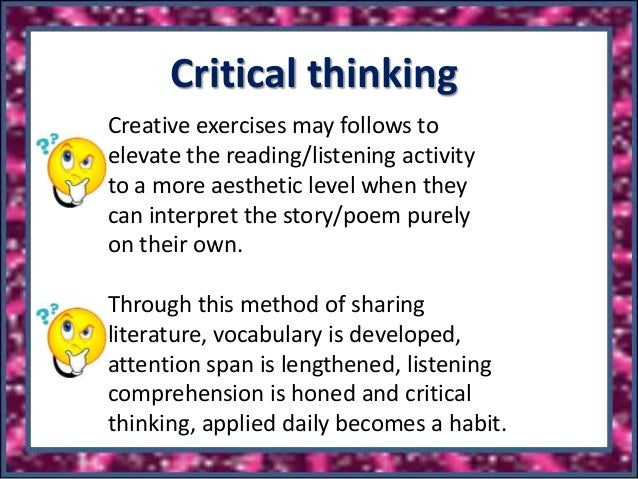 reading critical thinking exercises Reading detective's® standards-based critical thinking activities develop the analysis, synthesis, and vocabulary skills students need for exceptional reading comprehension.