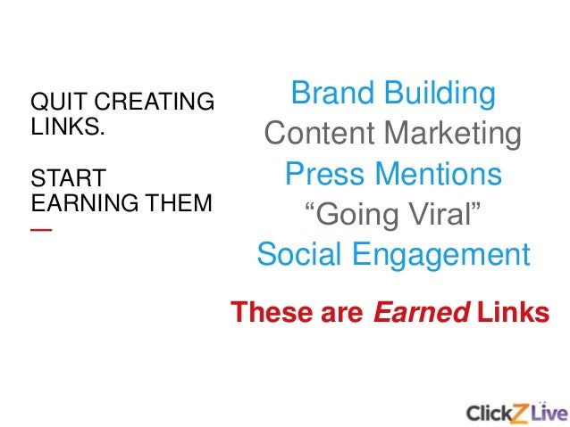 """14 Brand Building Content Marketing Press Mentions """"Going Viral"""" Social Engagement These are Earned Links QUIT CREATING LI..."""