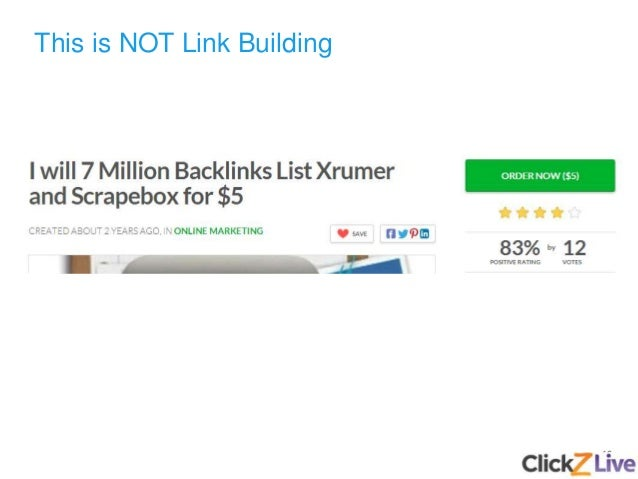 16 This is NOT Link Building
