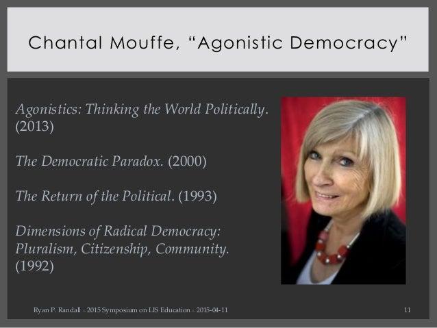 Agonistic Democracy