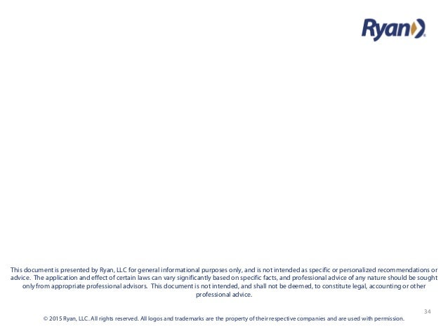 34 © 2015 Ryan, LLC. All rights reserved. All logos and trademarks are the property of their respective companies and are ...