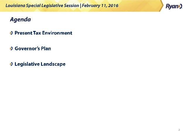 Louisiana Special Legislative Session: What to Expect Slide 2