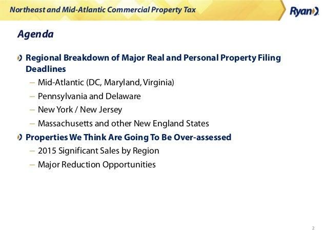 Property Tax Northeast Deadlines Slide 2