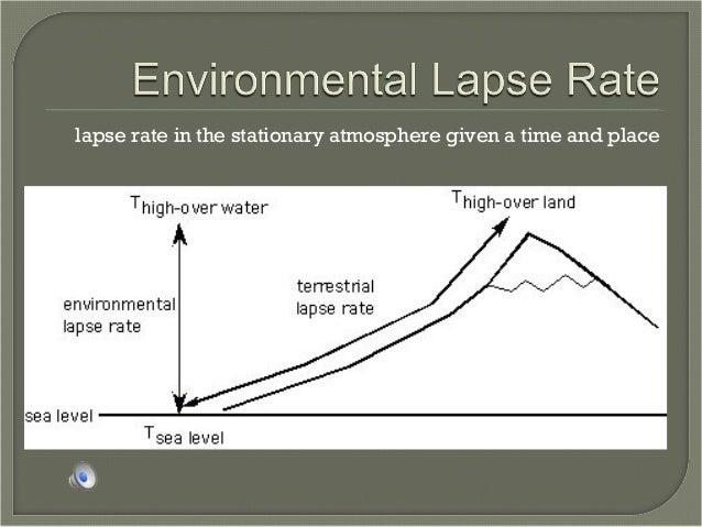 aos 122  environmental lapse rate v  dry adiabatic lape rate