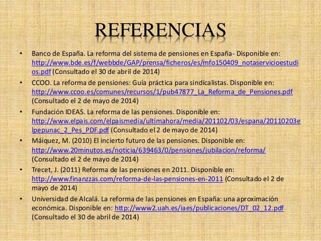 Reforma del sistema público de pensiones 2011