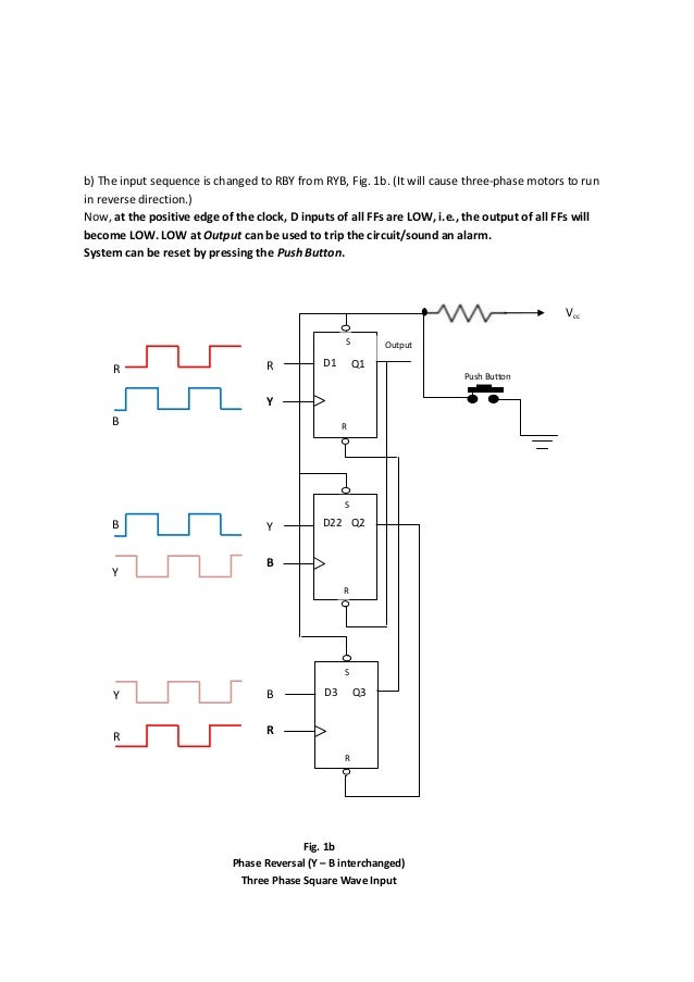 detection of phase reversal and single phasing of ac power