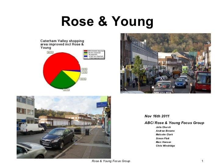 Rose & Young <ul><li>Nov 16th 2011 </li></ul><ul><li>ABC/ Rose & Young Focus Group </li></ul><ul><ul><li>Julia Church </li...