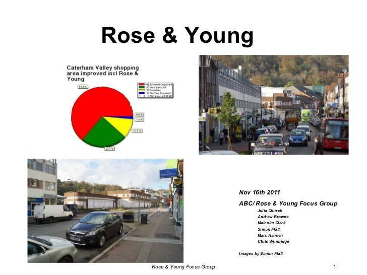 Rose & Young <ul><li>Nov 16th 2011 </li></ul><ul><li>ABC/ Rose & Young Focus Group </li></ul><ul><ul><li>Julia Church </li...