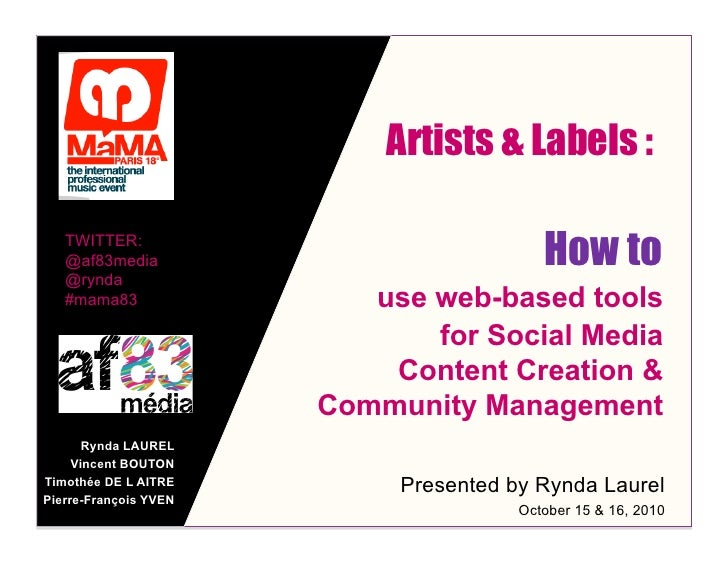 Artists & Labels :     TWITTER:    @af83media    @rynda                                           How to    #mama83       ...
