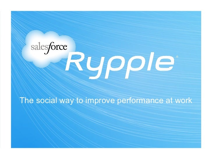 The social way to improve performance at work
