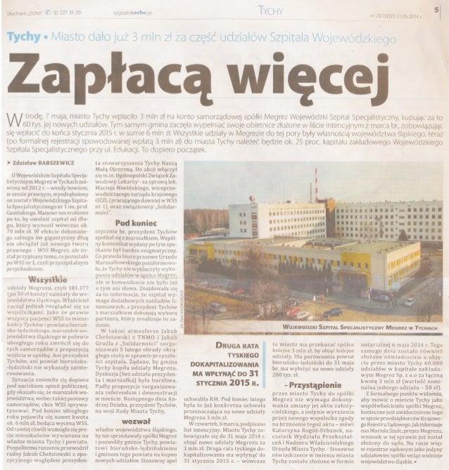 Artykuł z Tygodnika Echo