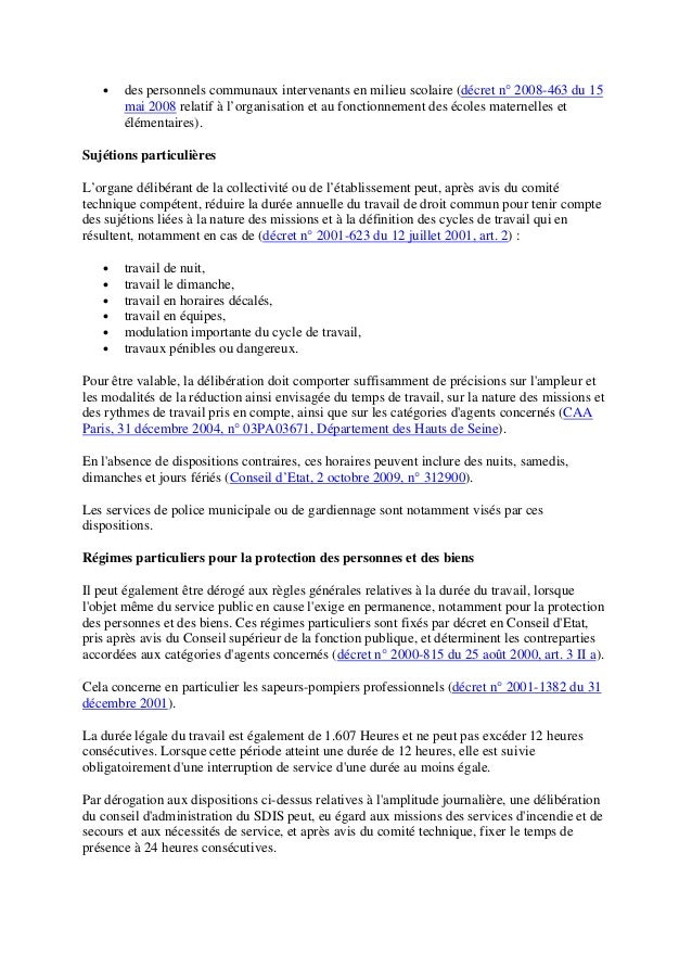 Rythme Temps Et Organisation Du Travail Dossier Cnracl Janvier 2018