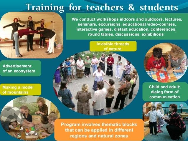 Teacher TrainingWorkshopsCompetitionsEducational symposiaAdvanced training  courses; 7.