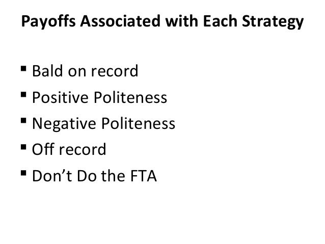 The bald on record strategy