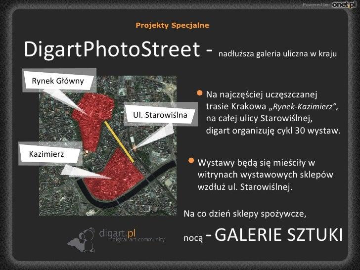 """DigartPhotoStreet -  nadłuższa galeria uliczna w kraju Na najczęściej uczęszczanej trasie Krakowa """" Rynek-Kazimierz"""",  na ..."""