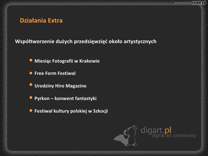 Działania Extra Współtworzenie dużych przedsięwzięć około artystycznych Miesiąc Fotografii w Krakowie Free Form Festiwal U...