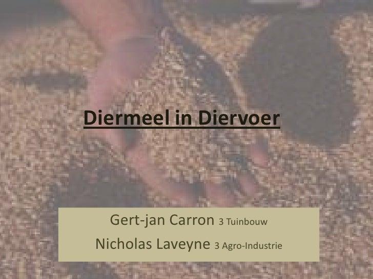 Diermeel in Diervoer<br />Gert-jan Carron 3 Tuinbouw<br />Nicholas Laveyne 3 Agro-Industrie<br />