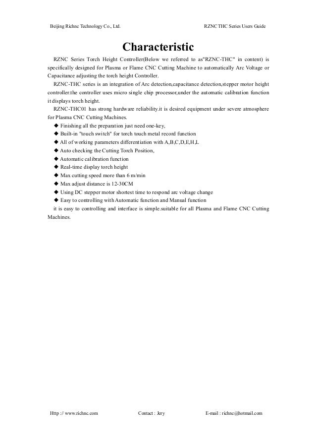 Rznc Thc01 Manual