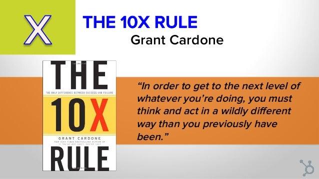 THE 10X RULE Grant Cardone