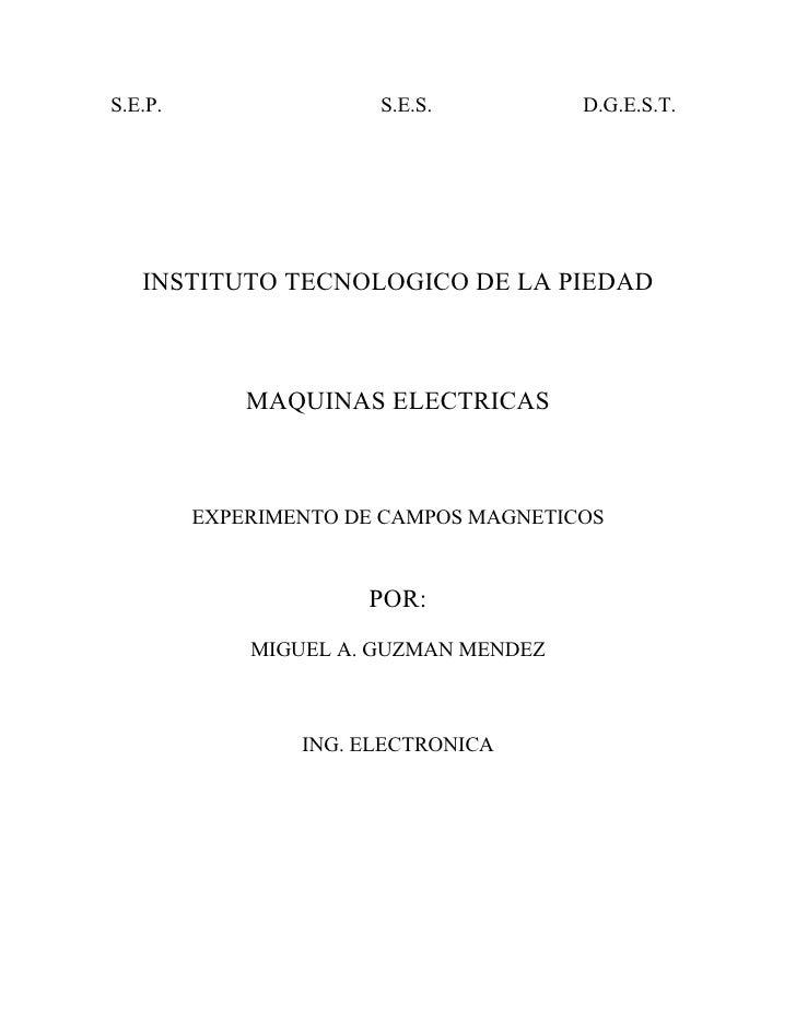S.E.P.                 S.E.S.          D.G.E.S.T.        INSTITUTO TECNOLOGICO DE LA PIEDAD                 MAQUINAS ELECT...