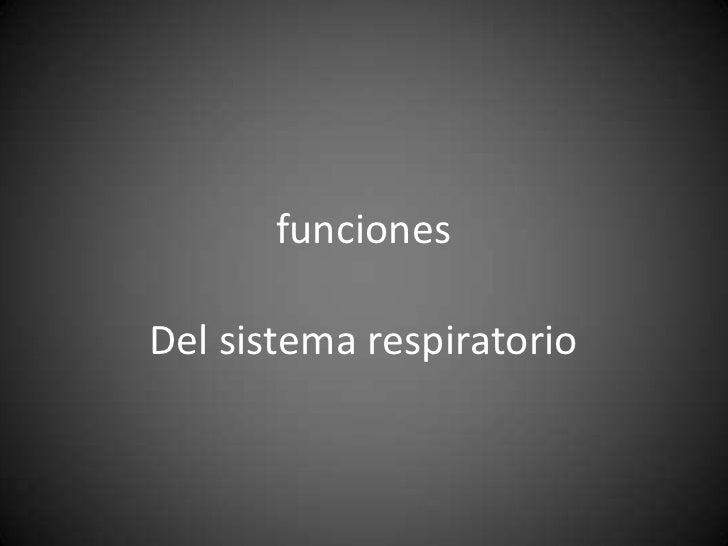 funcionesDel sistema respiratorio