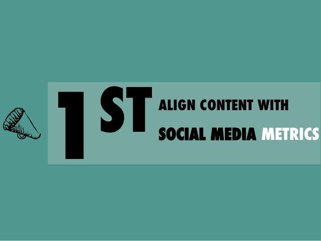 ST 1  ALIGN CONTENT WITH  SOCIAL MEDIA METRICS