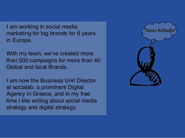 I am working in social media marketing for big brands for 6 years in Europe. ! ! With my team, we've created more than 500...